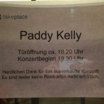 Paddy Kelly entrance